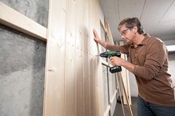 Bosch DIY Akku-Schlagbohrschrauber PSB 18 LI-2, Ladegerät, 2 Akku, Doppelschrauberbit, Koffer (18V, 2,5 Ah, Schrauben-Ø bis 10 mm, BohrØ 35 mm in Holz, 13 mm in Stahl, 15 mm in Mauerwerk) -