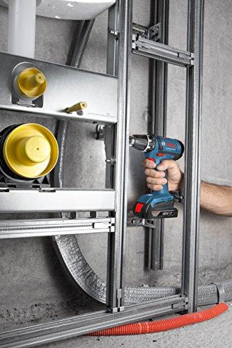 Bosch Professional Akku-Bohrschrauber GSR 18-2 LI (2x1,5 Ah Akku, 10 mm Bohrfutter, 1,3 kg inkl. Akku, 18 V, L-Boxx) blau, 06019B7300 -