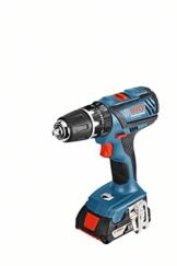 Bosch Professional GSB 18-2-LI Plus Akku-Schlagbohrschrauber (2 x 2,0 Ah Akku, 18 V, L-Boxx) blau, 06019E7100 -
