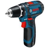 Bosch Professional GSR 10,8-2-LI Akku-Bohrschrauber (2x2,0 Ah Akku, 10 mm Bohrfutter, 950 g inkl. Akku, 10,8 V, L-Boxx) blau, 0601868109 -