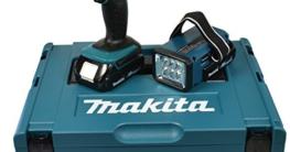 Makita Akku-Schlagbohrschrauber 18 V / 1,5 Ah inklusive Akku-Lampe, DHP453RYLJ -